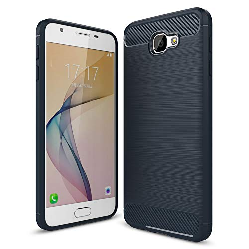 MRSTER Funda para Samsung Galaxy J7 Prime, Samsung J7 Prime Fibra Carbono Suave Silicona Funda, Anti-Scratch TPU Protectiva Carcasa Cover para Samsung Galaxy J7 Prime. XW Navy