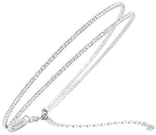 NC198 Collar Doble Cerradura Collar Collar Mujer