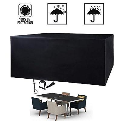 "FlyLemon Patio Outdoor Furniture Covers, 420D Oxford Fabric Waterproof Anti-UV Garden Protectors 49""x49""x29""(125x125x74cm)"