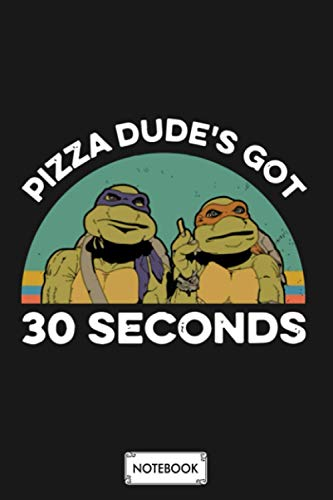 Pizza Dude_s Got 30 Second Animals Smoke Hip Hop Notebook: Lined College Ruled Paper, Journal, Diary, Matte Finish Cover, Planner, 6x9 120 Pages