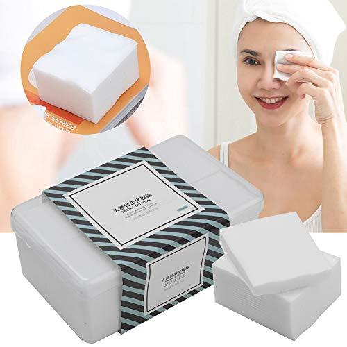 1000Pcs/Caja Almohadillas de algodón para maquillaje, herramientas cosméticas Paño de limpieza Pañuelo de algodón facial Toallitas sin pelusa Toallitas limpiadoras en seco y húmedo