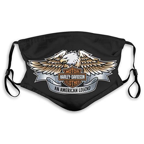 Maschera per Il Viso, Unisex Harley Davidson, Riutilizzabile, Lavabile, Protezione per la Pelle del Viso, Naso, Traspirante, Anti Fumo, inquinamento, Moto e Sport,
