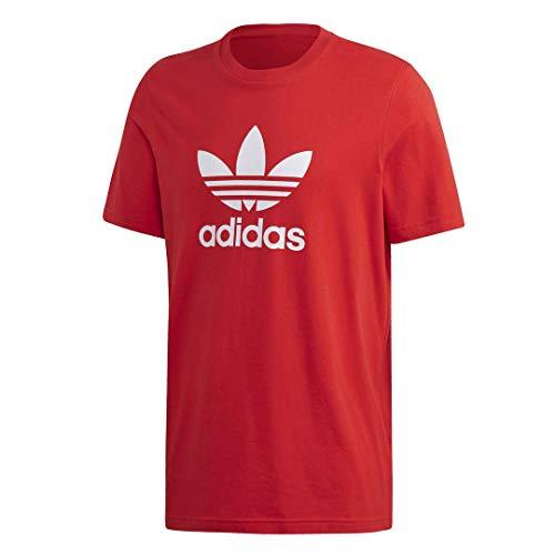 adidas Originals Trefoil T-Shirt Camiseta, Rojo, L para Hombre