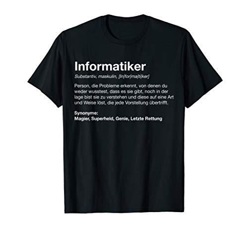 Informatiker Definition | Lustiges Programmierer Nerd cooles T-Shirt