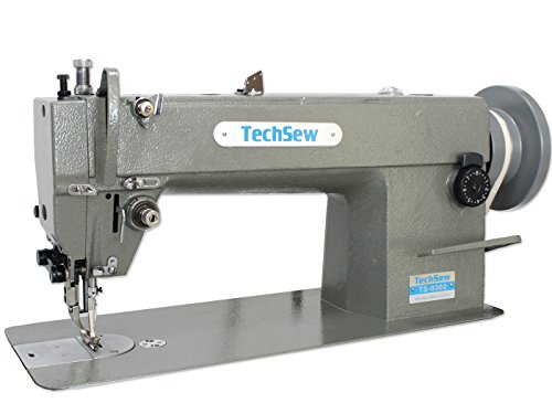 Techsew 0302 Leather Walking Foot Industrial Sewing Machine with Assembled Table & Servo Motor