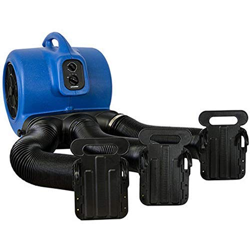 XPOWER X-800TF Heat Free Airflow Cage Dryer with Multi Drying Hose Kit - Blue