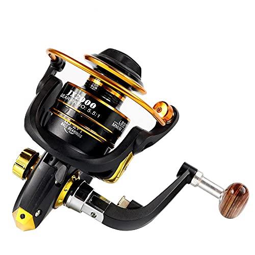 ZHYLing De Bobina de Metal Hilado Carrete de la Pesca 13 + 1BB Rueda Superior de Agua Dulce de Pesca de Agua Salada 1000-7000 Serie 5,5: 1 Rueda (Spool Capacity : 3000 Series)