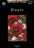 Fleurs(フルール) FZ-1630 更沙の花柄 日本製 80デニール・50デニール展開 (80デニール L~L)