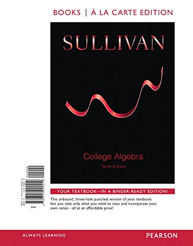 Top college algebra book sullivan for 2020