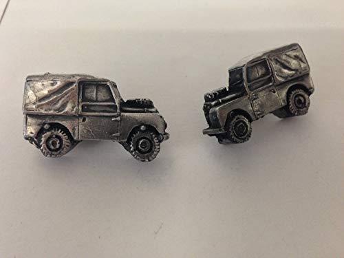 Land Rover SWB 3D Série 1–Boutons de manchette Homme-Classique-Bouton de manchette en ref112 effet étain