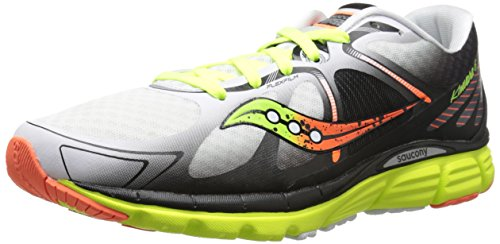 Saucony Men's Kinvara 6 Running Shoe, White/Citron/Orange,11.5 M US