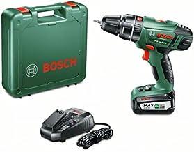 Bosch Home and Garden 0 603 982 408 Atornillador/Taladro de percusión con batería de litio, 36 W, 14.4 V, Negro, Verde, Rojo