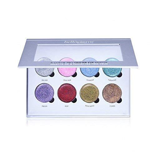 Bellapierre Cosmetics 8 colori Pro Glitter Eye Palette