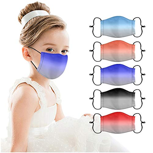 5 x Gesicht Bandana multifunktionales Tuch Mund und Nase waschbar wiederverwendbar atmungsaktives Gesicht winddichtes Unisex Halstuch (5 PC,Multicolor-12)