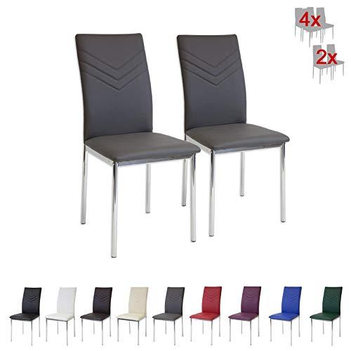 sillas patas cromadas