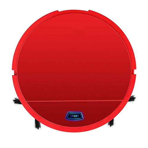 Robot de Limpieza de Carga automática Barrido Robot Mini Limpieza for la casa Inteligente Máquina Lazy Aspirador portátil, aspiradoras (Color : Red)