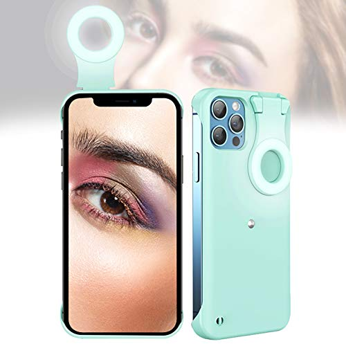 Selfie Case for iPhone 11 Pro Max, Selfie Ring Light Case for iPhone 11 Pro Max, LED Luminous Selfie Light Up Case for iPhone 11 Pro Max to Tiktok/Live Streaming/Makeup/Photos/YouTube Video - Green
