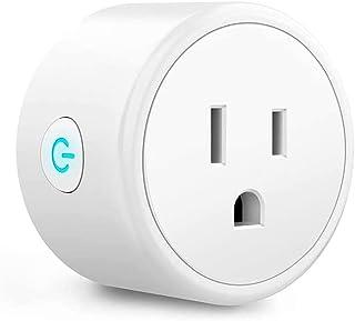 Wi-Fi Smart Plug, Enchufe Inteligente WiFi Smart Socket Compatible con Amazon Alexa Control por Voz, Google Home (BLANCO)