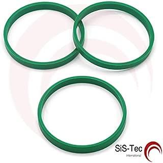 Deuba Lot de 10 anneaux en aluminium pour voiture 63,3 x 60,1 mm