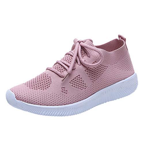 LEORTKS Sandalias de Chanclas Malla de Ocio de Las Mujeres al Aire Libre con Cordones Zapatos Deportivos Correr Zapatos Transpirables Zapatillas de Deporte
