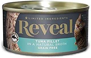 Reveal - Grain Free | Wet Canned Cat Food | 2.47oz - 24 Pack - Premium Nutrition, 100% Natural, No Additives, and Limited Ingredients