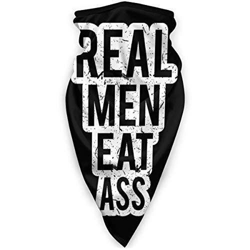 Antokos Real Men Eat Ass Seamless Face Cover Bandanas Headwear Diadema Cuello Polaina Multifuncional Magic Scarf Balacla Para Deporte Al Aire Libre Polvo