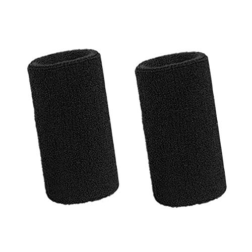 Lvcky 15,2 cm Handgelenk Schweißband Sport Armbänder Elastische Athletic Baumwolle Handgelenk Bands für Sport 2 Pack