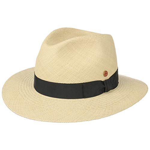 Mayser Menton Panamahut Strohhut Herrenhut UV-Schutz Sommerhut Sonnenhut (59 cm - Natur)