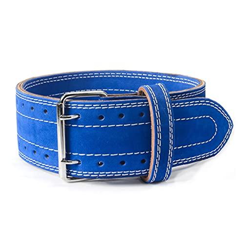 FSJKZX Cinturón de fitness para hombre y mujer, cinturón de levantamiento de pesas, cinturón de entrenamiento profesional, 4 capas de apoyo endurecido (color azul, tamaño: XL)