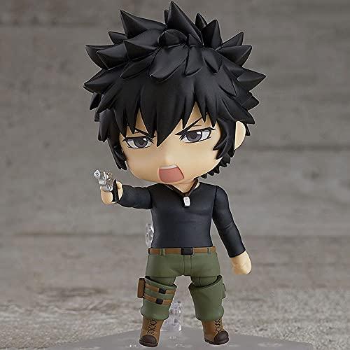 JJRPPFF Q-Version Kougami Shin'ya Modellfigur Puppe, bewegend, Einer der Protagonisten des Anime Psycho-Pass, stehende Haltung, ist 3,9 cm groß Aus PVC-Material für die Heimsammlung