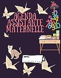 AGENDA ASSISTANTE MATERNELLE: Planner Semainier,Plannings de présence, relevés d'heures