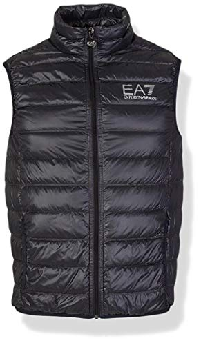 Emporio Armani Herren Train Core Down Vest Daunenweste, anthrazit, Small