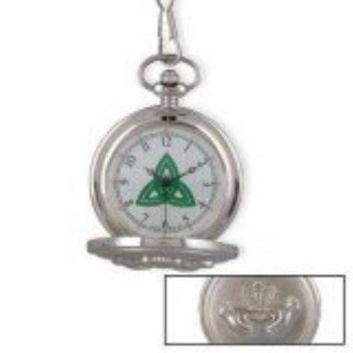 Irish Claddagh Celtic Pocket Watch with Trinity Knot