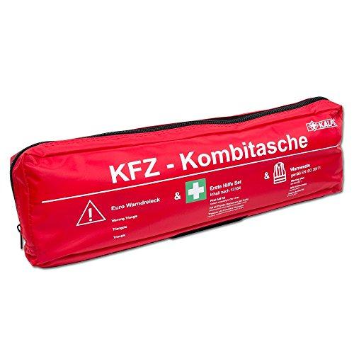 Kalff 7440 Kombi Tasche Trio, DIN 13164 mit Warndreieck und Warnweste