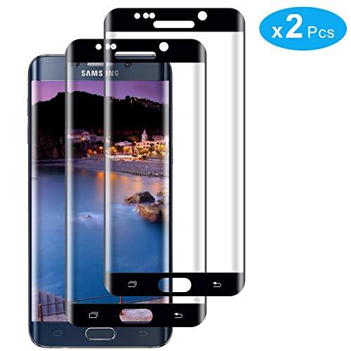 RIIMUHIR Vetro Temperato per Samsung Galaxy S6 Edge, Senza Bolle, Anti Impronta Digitale, Durezza 9H, Installazione Facile, 3 Pezzi Samsung Galaxy S6 Edge Proteggi Schermo