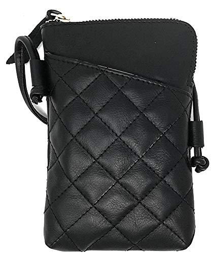 petit un compact Petit sac bandoulière VeraPelle en cuir italien pour smartphone ou Mona Haypass, noir…