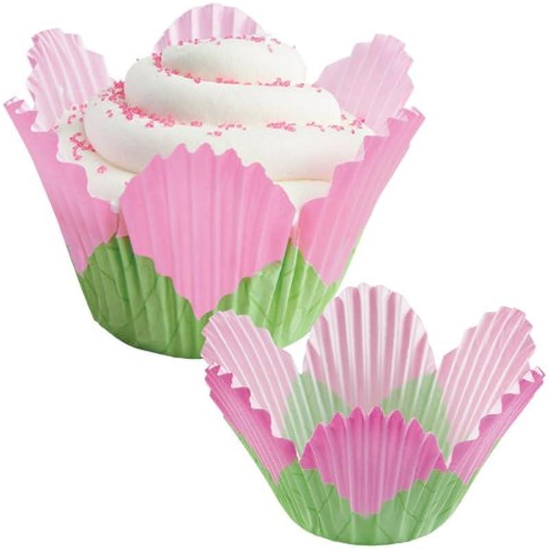 Wilton Baking Cups Petal Pink 24 Pkg Fancy Standard