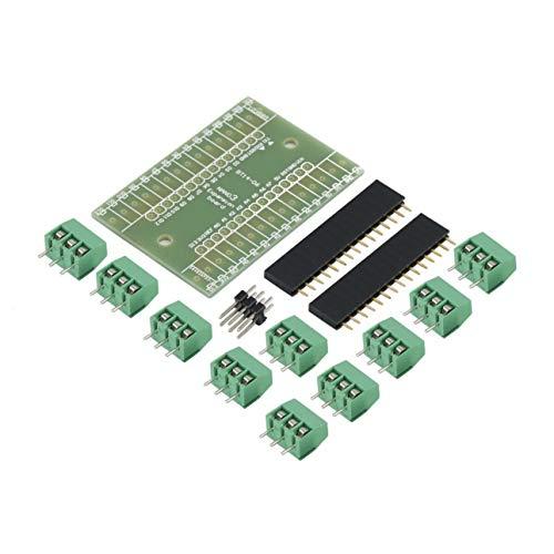 Ballylelly Blaue Erweiterungskarte Terminal Adapter DIY Kits für Arduino Nano IO Shield V1.0 Anwendung im Rechner