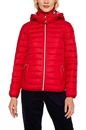 ESPRIT Damen 129Ee1G005 Jacke, Rot (Dark Red 610), Large (Herstellergröße: L)