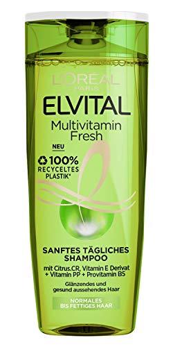 L'Oréal Paris Elvital Multivitamin Fresh Sanftes Tägliches Shampoo, 300 ml