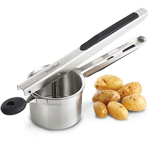 VonShef Potato Masher- Multifunctional Stainless-Steel- Ideal for Mashed Potatoes, Fishcakes, Rosti