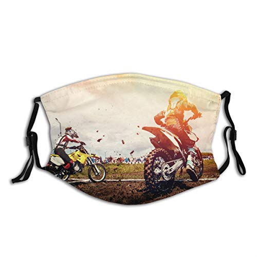 Face Cover Motorcycle. Team Athletes On Mountain Bike Motorcycles On Motor Start Balaclava Unisex Reusable Windproof Anti-Dust Mouth Bandanas Outdoor Camping Motorcycle Running for Teen Men Women