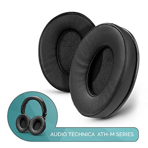 Brainwavz ProStock ATH M50X verbesserte Ohrpolster für ATH-M50X M50BTX M20X M30X M40X Kopfhörer aus veganem Leder, Schwarz