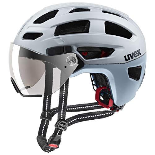 Uvex Unisex– Erwachsene, finale visor Fahrradhelm, silver mat, 52-57 cm