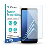 smartect Panzerglas kompatibel mit Samsung Galaxy A8 Plus 2018 [2 Stück] - Tempered Glass mit 9H Festigkeit - Blasenfreie Schutzfolie - Anti Fingerprint Panzerglasfolie