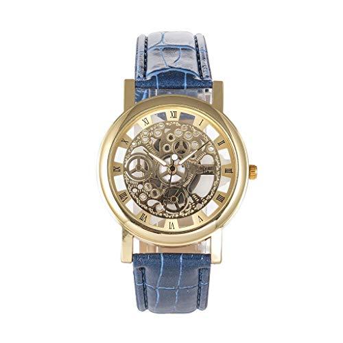 Cloodut - Reloj analógico de Cuarzo con Esfera Hueca Creativa para Hombres y Mujeres, decoración Elegante y Bonita
