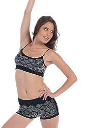 Kurve Dancewear Wave Sequin Cami Dance Bra Top