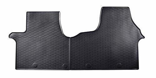 DAPA Prime Gummimatten Gummi Fußmatten Komplettset Schwarz perfekt passend mit Rand 1078398