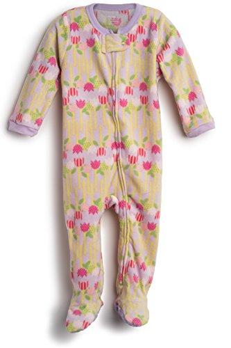 elowel | Schlafanzug | Mädchen Pyjama | Babys, Kinder | 1-Teilig | Flauschig | Strampler | 100% Polyester | Warm, Angehnem | Größe: 4 Jahre (104) | Design: Blume | Farbe: Mehrfarbig