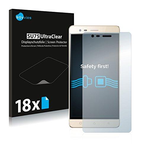 Savvies 18x Schutzfolie kompatibel mit LG K5 Note Bildschirmschutz-Folie Ultra-transparent
